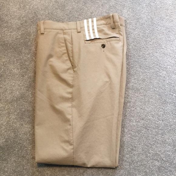 Adidas climacool golf pants 34x30 flat front khaki